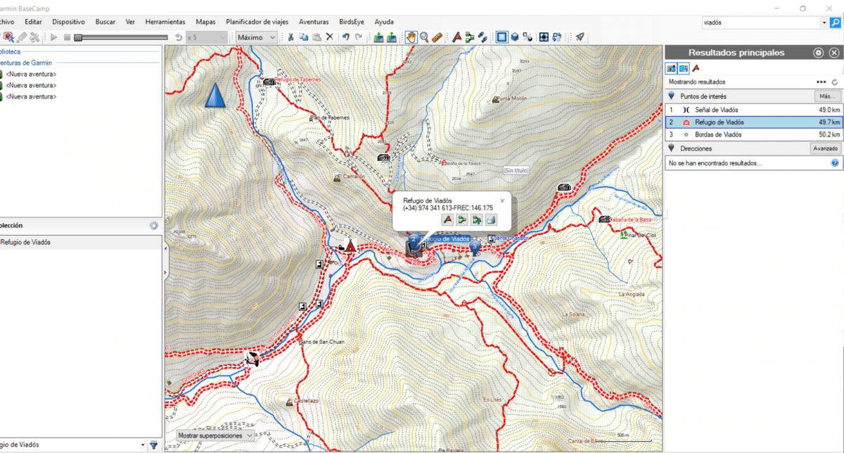 BaseCamp Waypoint buscador