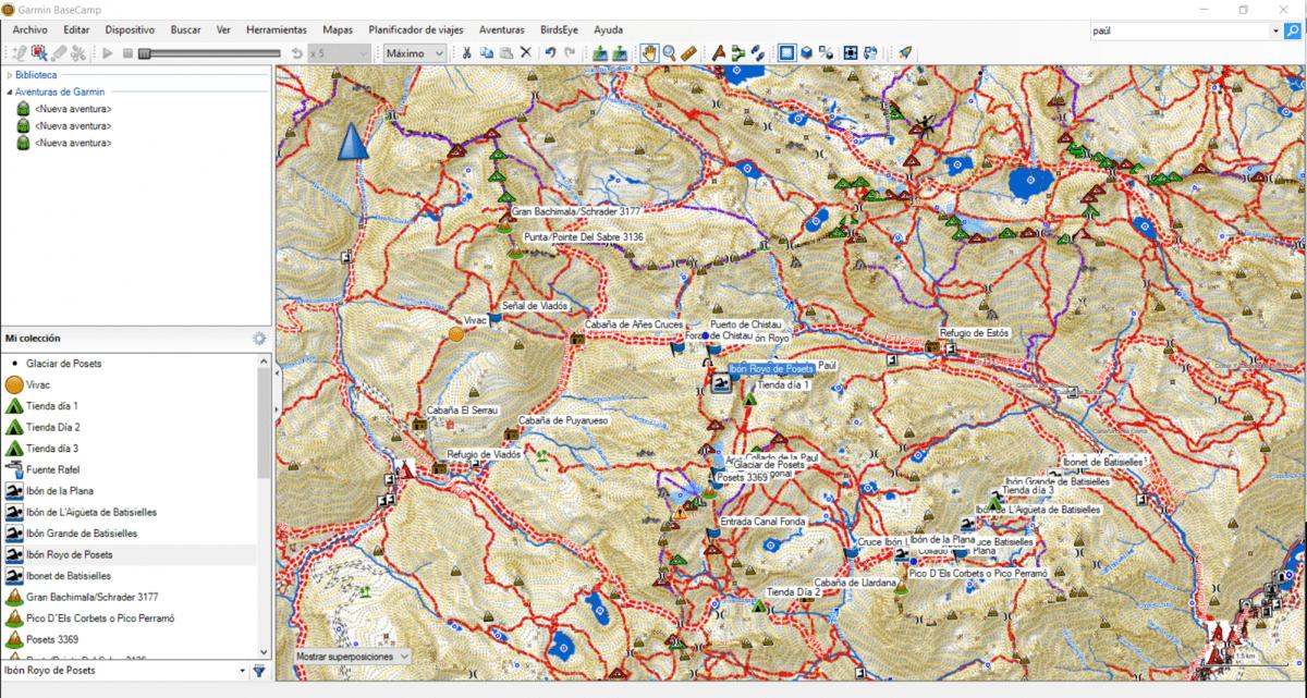 BaseCamp Waypoints colocados
